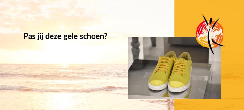Pas jij deze gele schoen?