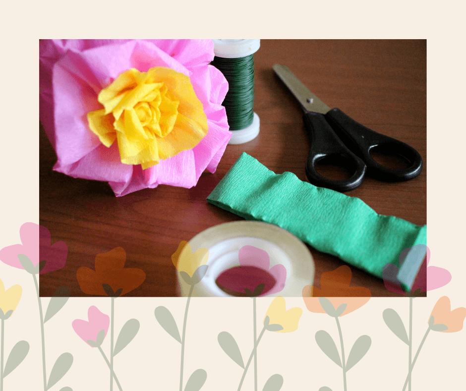Steel eenvoudig afwerken van bloemen van papier
