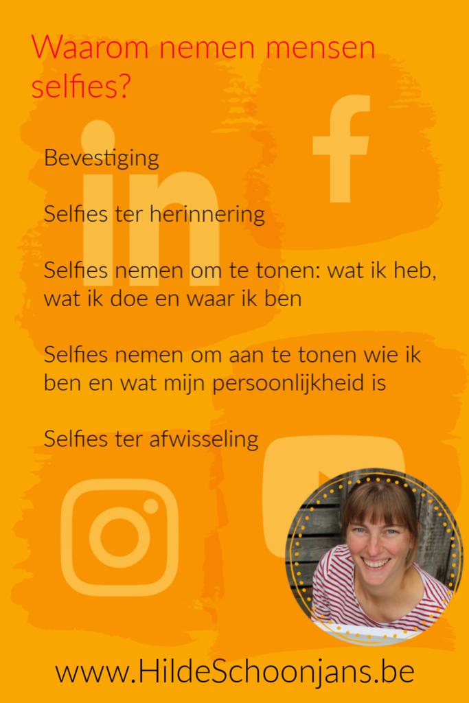 Waarom nemen mensen selfies