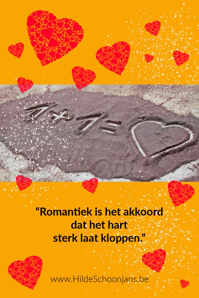 Romantiek is elkaars liefdesgedichten schrijven