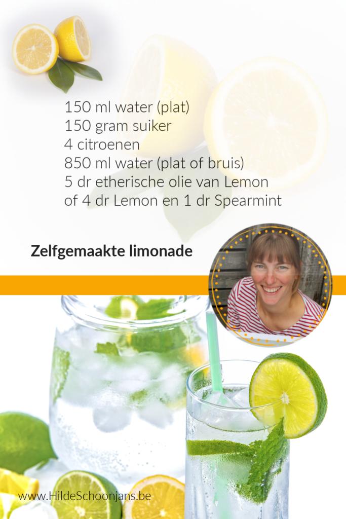 Zelfgemaakte limonade met etherische olie
