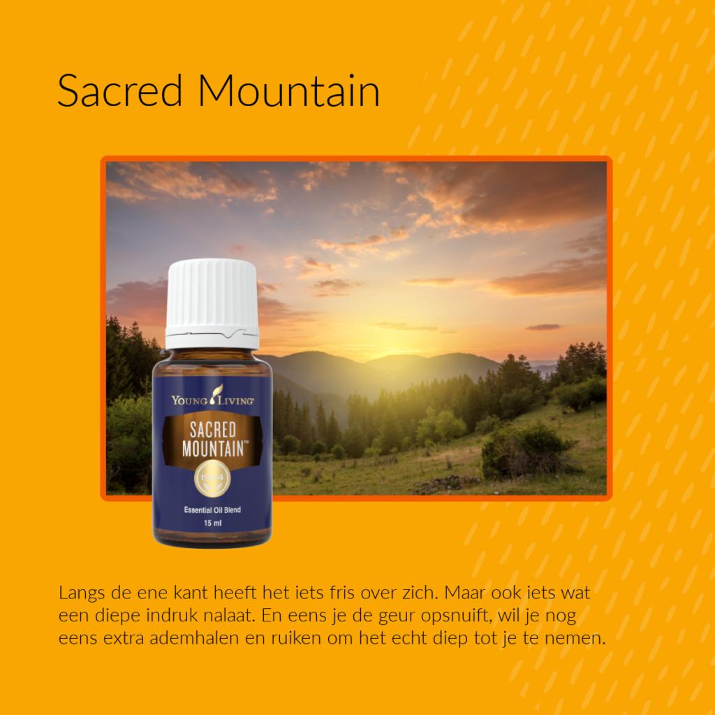 Sacred Mountain - Young Living - helpt ook tegen snottebelletjes