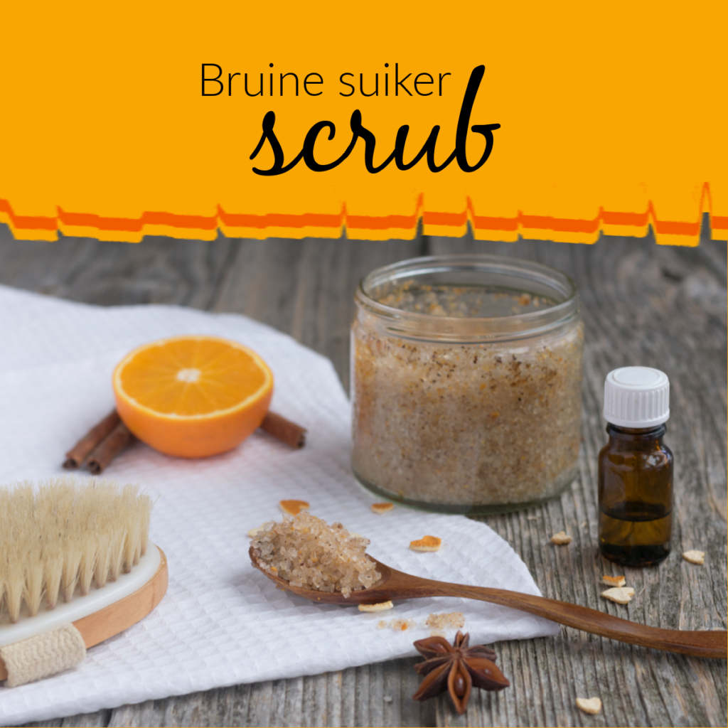 Bruine suiker scrub