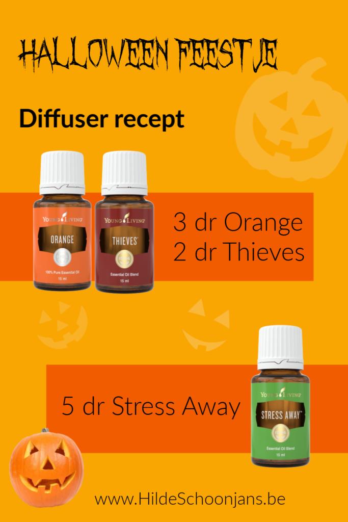 Halloween feestje diffuser recept